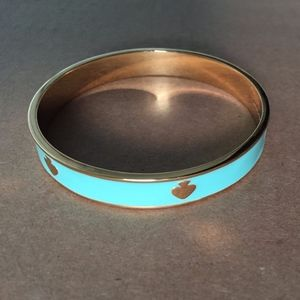 Kate Spade Turquoise and Gold Bangle